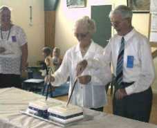 Gordon Wyllie Cutting the Cake